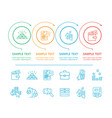 infographic commerce and text vector image