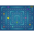 Pacman like video arcade game with ghosts vector image