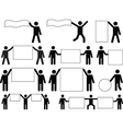 People holding blank banners vector image