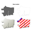 New London Map Icon Set vector image