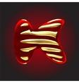 velvet letter vector image vector image