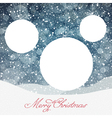 Christmas Ball Symbol and Falling Snow and Isolate vector image vector image
