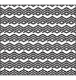 Monochrome zigzag abstract textured geometric vector image