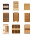 set wardrobe vector image