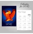Bright calendar 2016 with Griffon decoration vector image