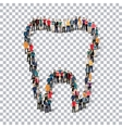 tooth people sign 3d vector image