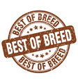 best of breed brown grunge stamp vector image