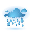 cloud and drops vector image