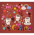 Coffee cartoon vector image