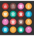 Gift boxes icons set over black vector image