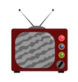 Isolated of old tv vector image