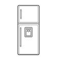 outline kitchen refrigerator vector image
