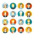 Profession avatar on circles vector image