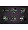 Set of Medical Cannabis Marijuana Sign or Label vector image