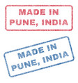 made in pune india textile stamps vector image
