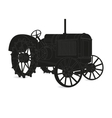 The silhouette of the old tractor vector image vector image
