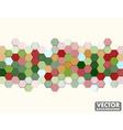 Abstract Honeycomb Hexagon Background Christmas vector image