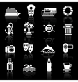 recreation icons set vector image