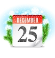 Christmas Day Calendar vector image vector image