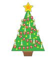 Danish Christmas Tree vector image vector image