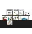Modern house in cut vector image vector image