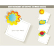 Stickers chat vector image