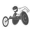 Paralympic games The athlete in the wheelchair vector image
