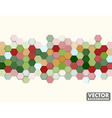 Abstract Honeycomb Hexagon Background Christmas vector image