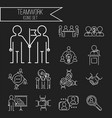 business teamwork teambuilding thin line icons vector image