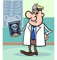 cartoon doctor with xray vector image