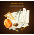 Construction Architect Tools Background vector image