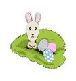 easter rabbit vector image