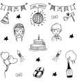 Element party doodle art vector image