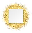 square glitter gold frame vector image