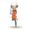 woman cooking vector image
