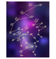Stars constellations stylize drawing background vector image
