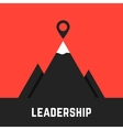 leadership metaphor with black mountains vector image