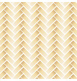 golden pattern with chevron on white background vector image vector image