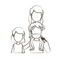 blurred thin contour caricature faceless front vector image