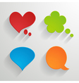 set of bright paper speech bubbles vector image vector image