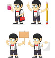 Nerd Boy Customizable Mascot 19 vector image