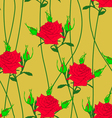 seamless background with flower roses could be use vector image vector image