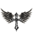 cross wing emblem vector image vector image