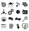 Seo web simple icon vector image