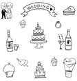 Doodle of wedding party vector image