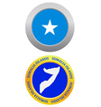 button as a symbol SOMALIA ISLANDS vector image