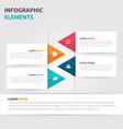 colorful triangle business timeline infographics vector image