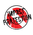 impact protection rubber stamp vector image