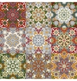 Islamic damask backgrounds colorful set beautiful vector image