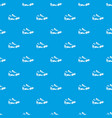 Sneakers for tennis pattern seamless blue vector image